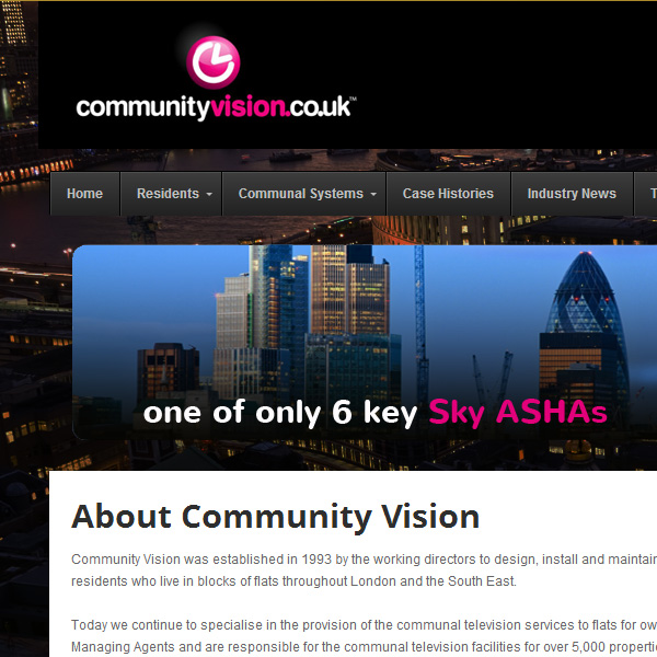 Web design for Community Vision