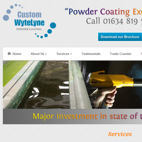 Web design for Custom Wytelyne